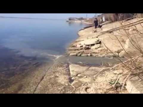 Октябрьск. Самарская область. Нечистоты из городской канализации сливают в Волгу