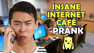 Insane Internet Cafe Prank - Ownage Pranks