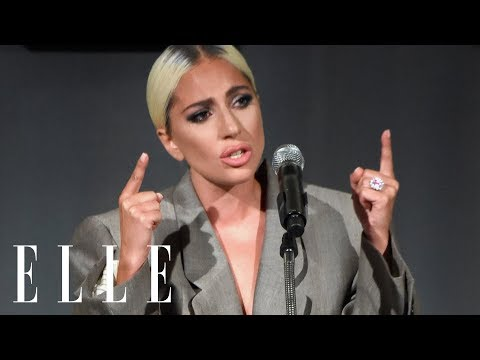 Lady Gaga's Emotional Speech on Surviving Sexual Assault and Mental Health | ELLE