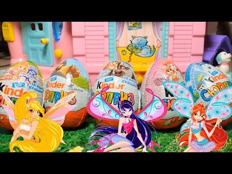 Клуб Винкс - Сборник #8 Сюрпризы игрушки распаковка  Мультики о феях на русском Winx Club