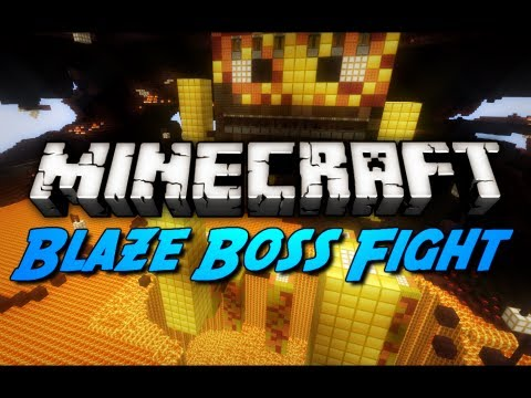 Minecraft: Intense Blaze Boss Battle!