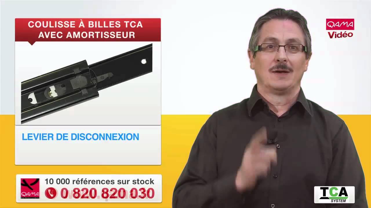 Coulisse billes push tca avec amortisseur par qama youtube for Comamortisseur de tiroir