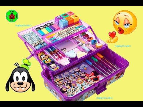 KIDS ART SET | Disney Emoji Deluxe Art Set: Creative Activity For Kids | itsplaytime612