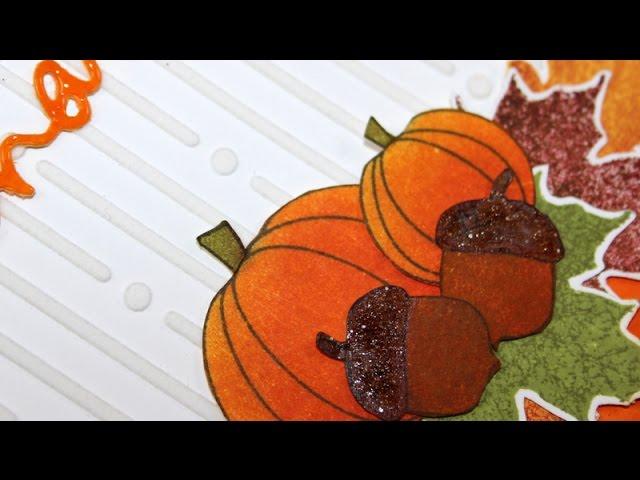 STAMPtember blog hop - Thanksgiving / Fall card