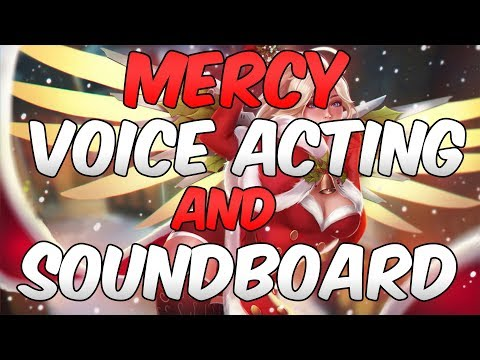 Overwatch Soundboard and Mercy Voice Actor Plays Competitive! ft. AllanahTheVA