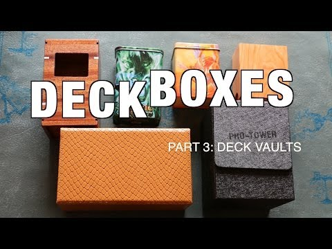 What's The Best MTG Deck Boxes & Vaults? Compare Ultra Pro. Legion. & Aaron Cain - Magic: Gathering
