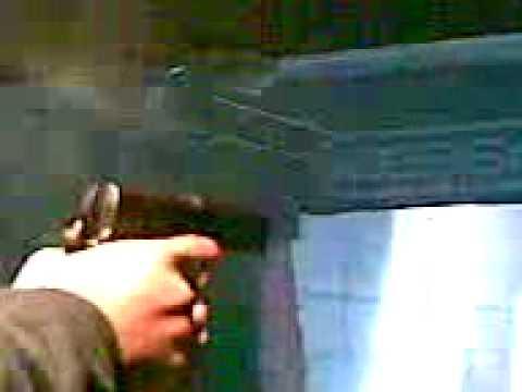 Pistola accion Colt Cal .45 ACP en el Polígono Video