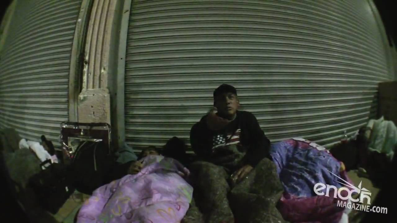 spending the night on skid row los angeles youtube