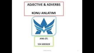 ADJECTIVE&ADVERBS