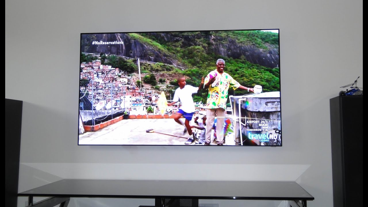 Samsung Un55d7000 Led Tv Modified By Removing Bezel Youtube