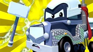Biệt đội siêu anh hùng đặc biệt - Carl là Thần sấm - Siêu xe tải Carl 🚚⍟ những bộ phim hoạt hình về