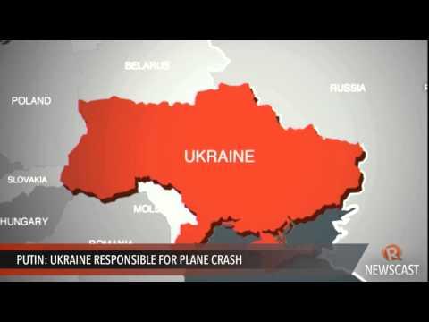 Putin:  Ukraine responsible for plane crash