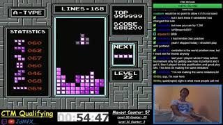 NES TETRIS - First Ever Maxout + Level 32 - 10/16/2018