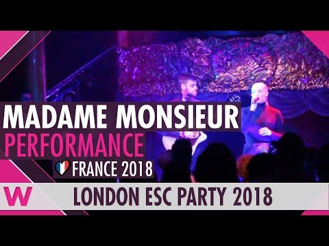 "Madame Monsieur ""Mercy"" English Version (France 2018) LIVE @ London Eurovision Party 2018"