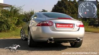 Supersprint exhaust for Jaguar XK 4.2 V8 - revving and acceleration sound