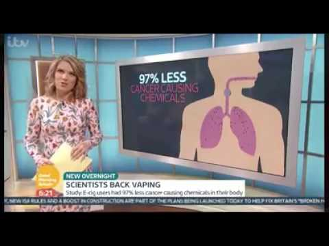 Cancer Research UK study shows vaping is far safer than smoking