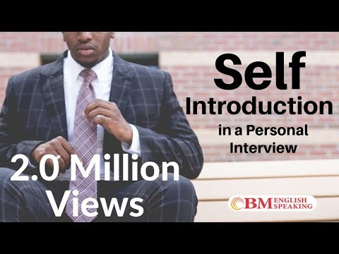 Tips for Self-Introduction in a Personal Interview