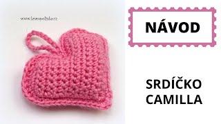 Hackovane srdicko Crochet Heart