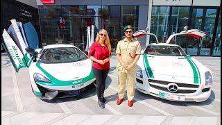A DAY WITH DUBAI POLICE SUPERCARS !!!