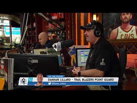 Portland Trail Blazers' Damian Lillard Drops Rap Names & Rich Channels HIs Inner Dr. Dre - 4/13/18