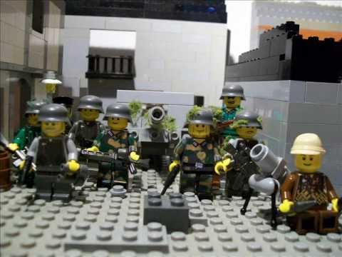 Lego ww2 moc battle of st l youtube for Siege lego france