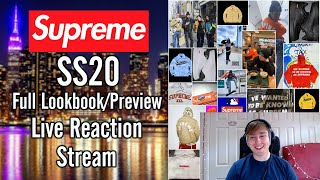 Supreme SS20 - Full Lookbook *Live Reaction Stream*