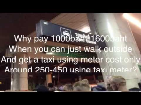How to get CHEAP TAXI in Thailand, bangkok AIRPORT