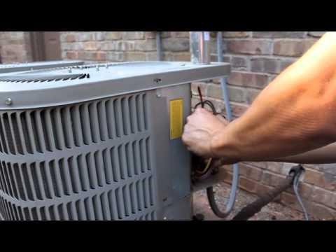 AC fan not working - how to repair broken HVAC Run Start Capacitor - air condition