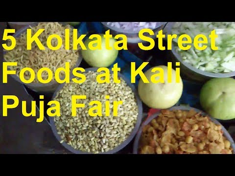 Kolkata Street Foods #1: 5 Kolkata Street Foods In Kali Puja Fair,barasat video