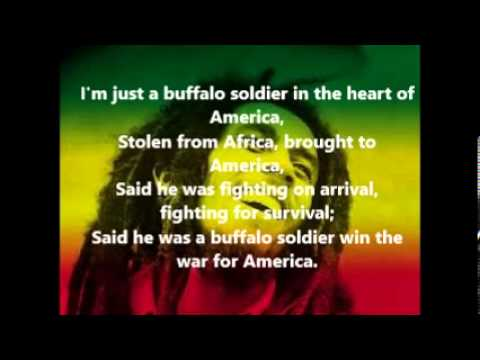 Bob Marley Buffalo Soldier Lyrics On screen