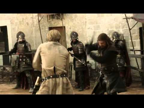 Ned Stark vs Jaime Lannister - Game of Thrones 1x05 (HD)