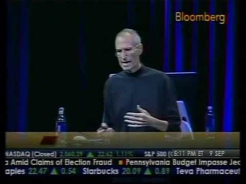 Steve Jobs' Emotional Appearance at Applefest - Bloomberg Music Videos