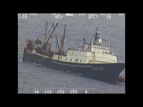 USCG rescues fishing vessel crew members