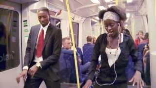 New Antenna dance #Azonto #Sweden #Stockholm #train
