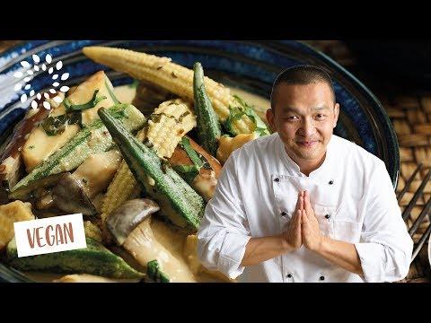 Grünes Thai Curry mit Tempeh
