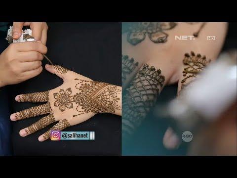 SALIHA - Cara Meracik Dan Mengukir Henna Pada Tubuh
