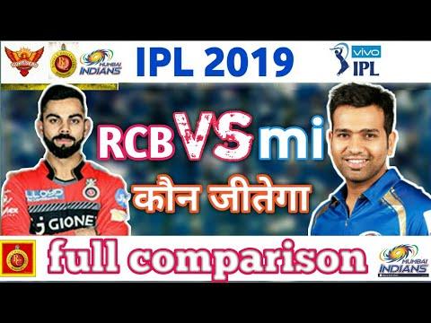 IPL 2019 || Mumbai Indians Vs Royal challengers Bangalore full comparison mi vs RCB