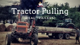 🚜-----Tractor Pulling (with real trailers 💪)