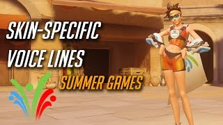 Overwatch - All Skin-specific voice lines (Summer Games Event)