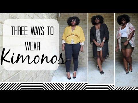 ♥SUPPLECHIC♥ 3 WAYS TO WEAR KIMONOS CURVY GIRL EDITION