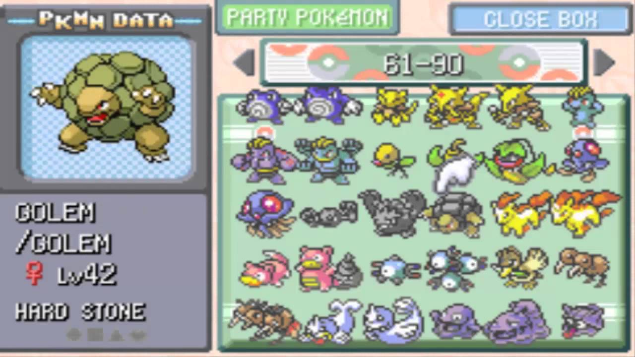 Completing my Pokemon Leaf Green Pokedex & Catching them all ...