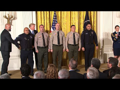 Trump Awards San Bernadino First Responders