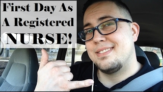 FIRST DAY AS A REGISTERED NURSE! (Vlog)
