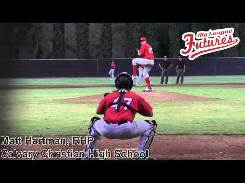 Matt Hartman Prospect Video, RHP, Calvary Christian High School @Angels Elite Baseball