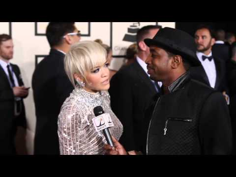 Rita Ora talks about her music 'traveling' at GRAMMY AWARDS