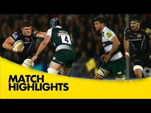 Exeter Chiefs Vs Leicester Tigers - Aviva Premiership 2015/16 | Rugby Video Highlights