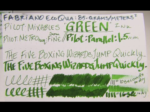 "Ink Review: Pilot's Mixable ""Green"" Ink Cartridges"