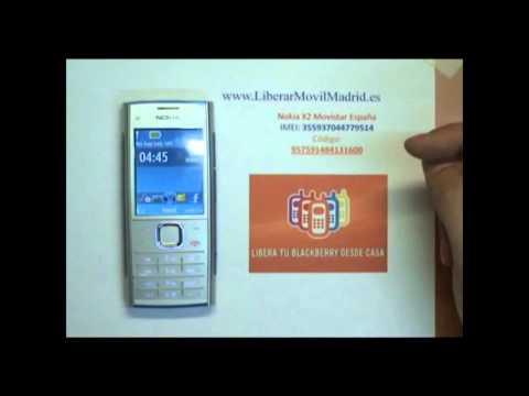 Liberar Nokia X2 Movistar por Código IMEI - www.LiberarMovilMadrid.es