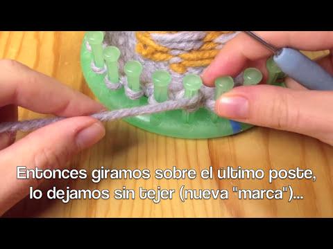 Cómo tejer en telar unos guantes manoplas (Tutorial DIY)