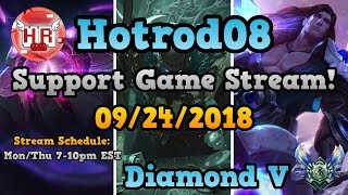 (9/24/18) Diamond V Support Stream! Learn/Interact/Ask Questions To Better Your Game